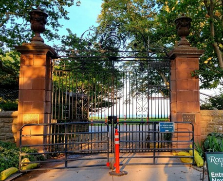 After being down for nearly 22 months, the gates where Doris Duke murdered Eduardo Tirella are back up. A year ago Vanity Fair published my first account of that crime, now told, in even more detail, in my 438 page, fully illustrated book available in 4 editions